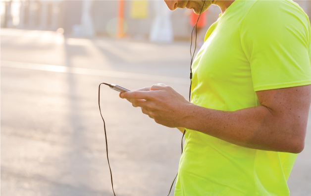Man jogging with an iPod