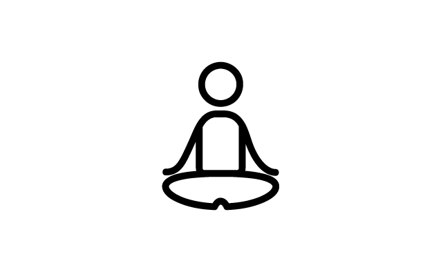 Sketch of a man meditating