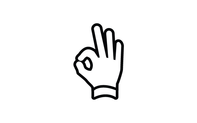 Sketch of a hand doing to ok sign