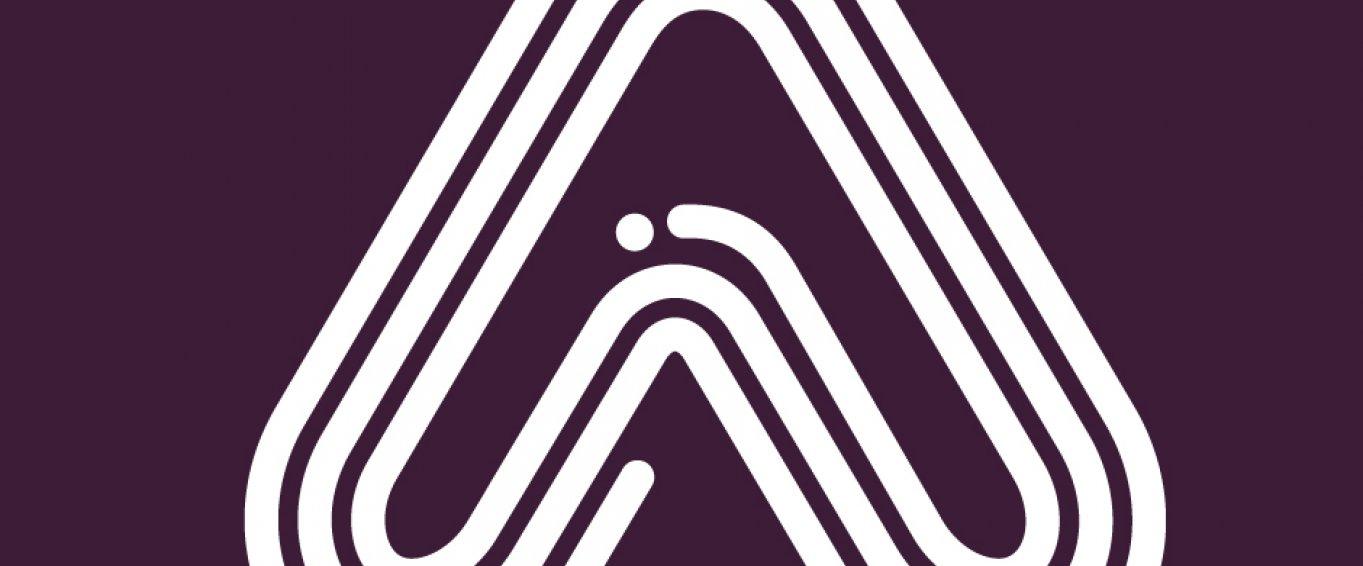 Amaven white on purple logo
