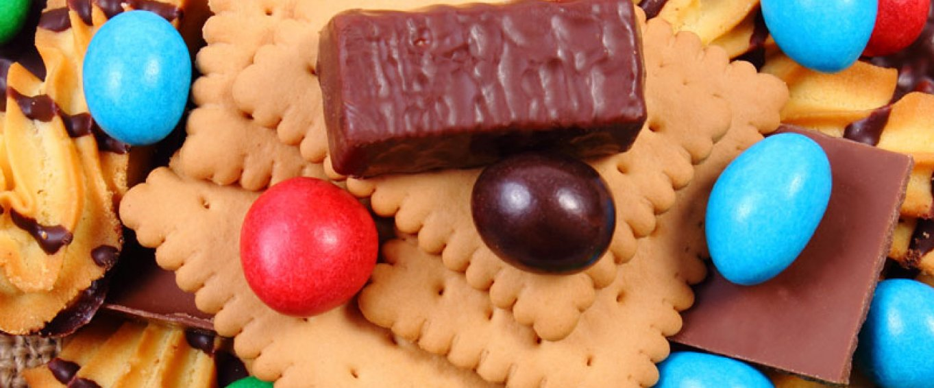 Chocolate, biscuits and sweets