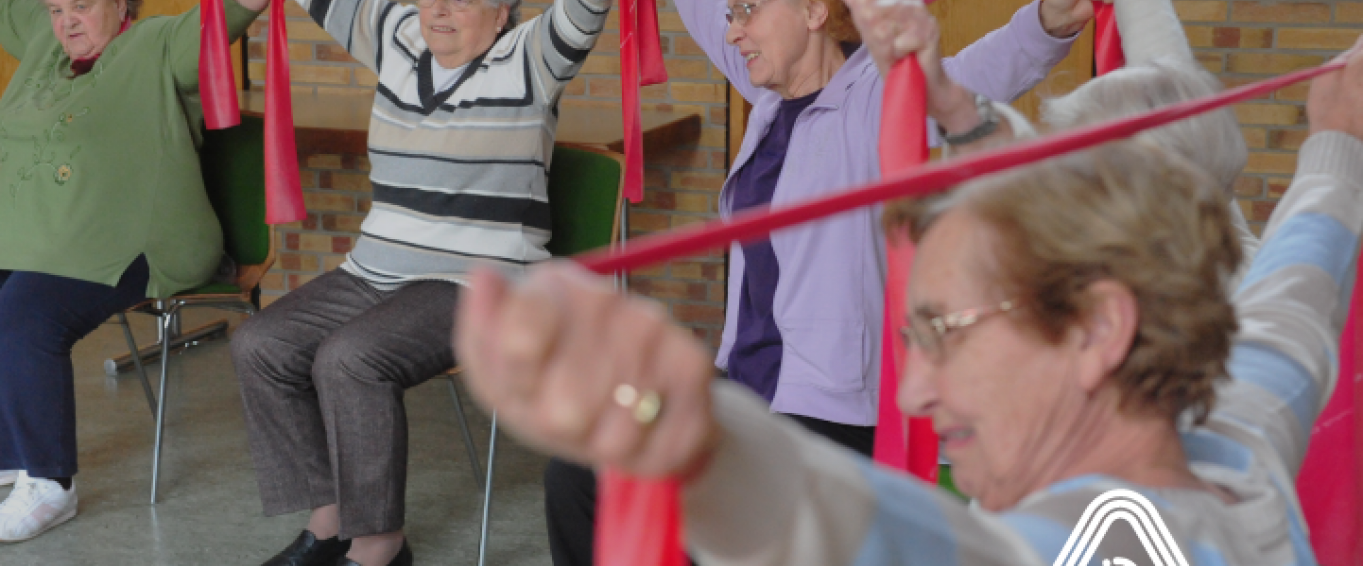 Older adults doing activities