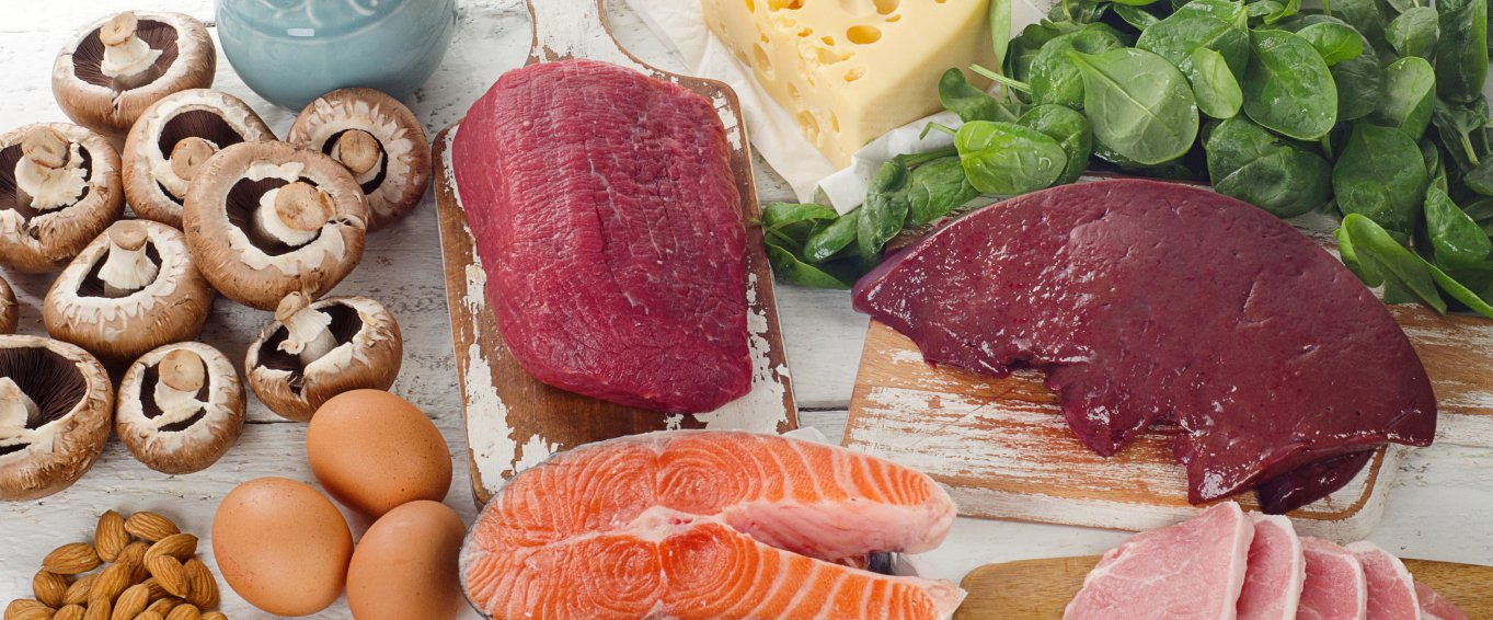 Sources of complete protein on table