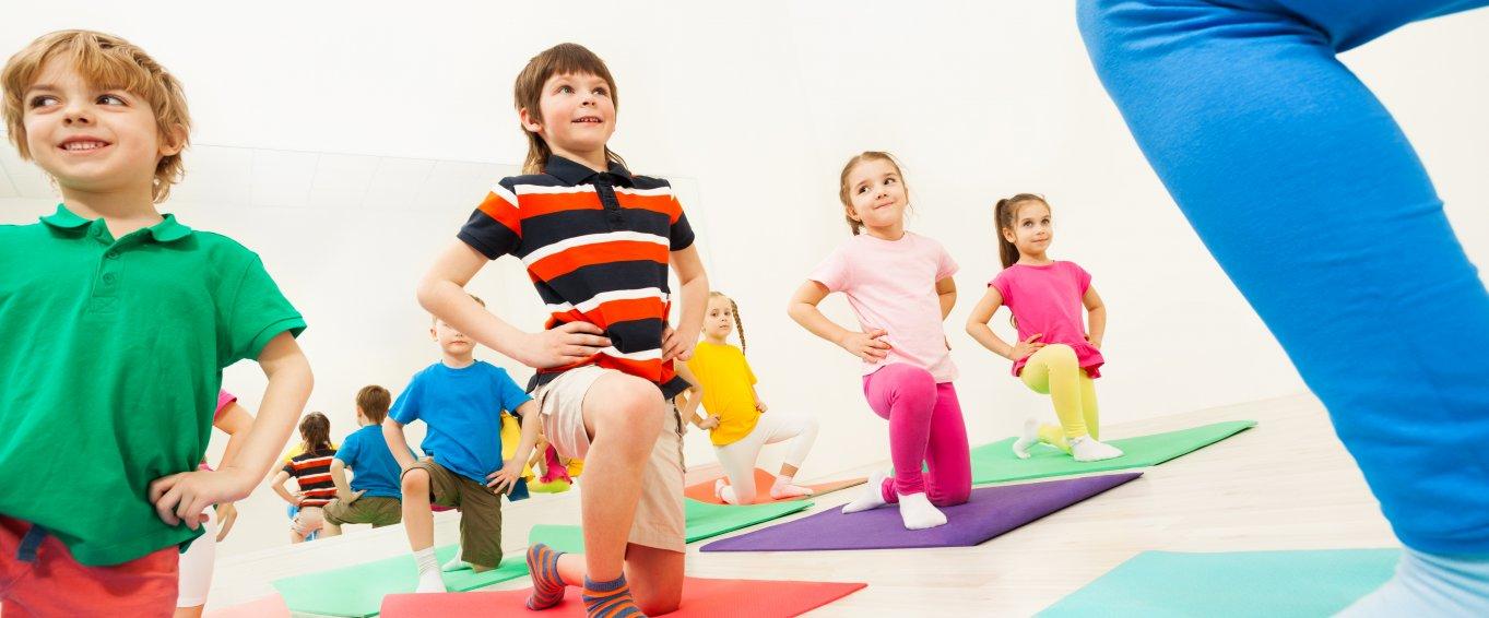 kids doing fitness