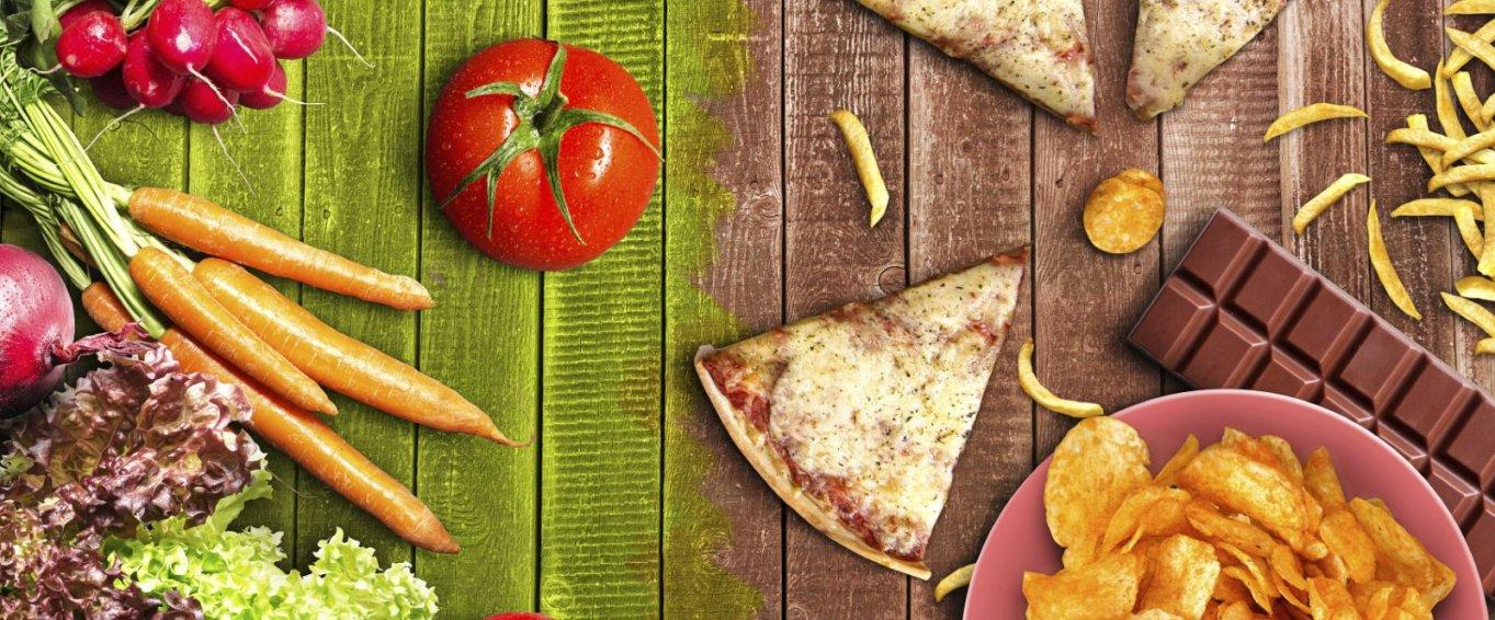 Vegetables vs Salty Processed Foods