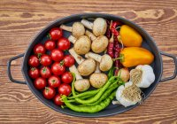 Pan Filled with Colourful Fresh Vegetables