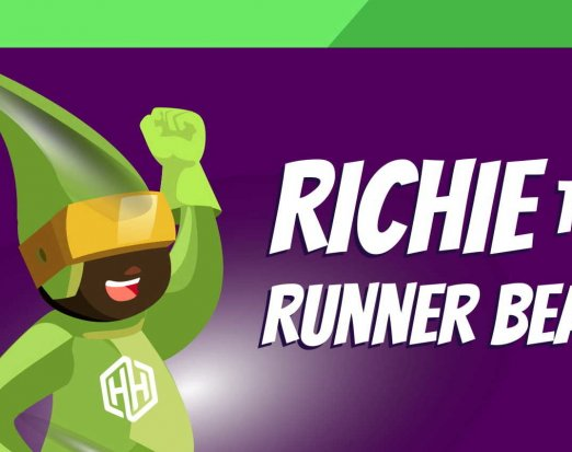 Richie the Runner Bean - Amaven Healthy Heroes