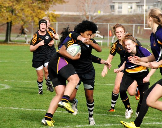 Teen Girls Playing Rugby