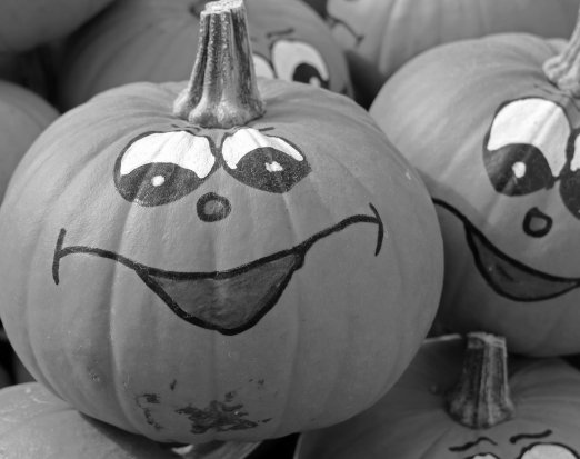 Smiley face pumpkins