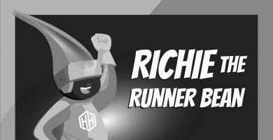 Richie the Runner Bean - Amaven Healthy Heroes
